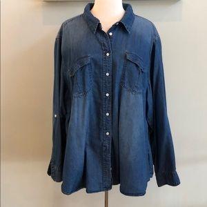 Lane Bryant Denim Shirt